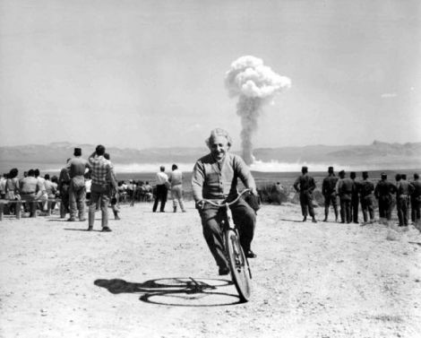 einstein-on-bike-riding-from-nuclear-test-explosion